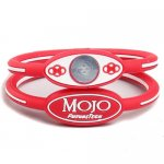 Mojo Wristband Single Holographic I 7 Inch Red and White