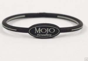 Mojo Wristband Single holographic | 8 inch Black - Grey