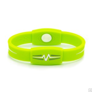 "Mojo Wristband Elite Double Holographic | 7"" Lime - White"